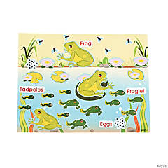 Paper Life Cycle of A Frog Sticker Scenes