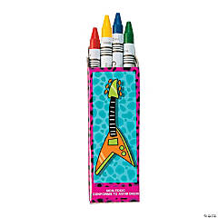 100th Day Rock Star Crayons