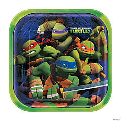 Paper Teenage Mutant Ninja Turtles Dinner Plates