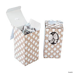 Metallic Wedding Favor Boxes