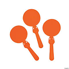Plastic Round Orange Clappers