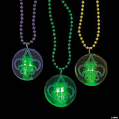 Plastic Fleur De Lis Light-Up Necklaces