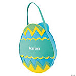 Boys' Personalized Easter Egg Bag