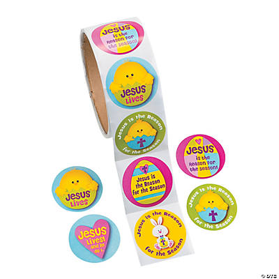 """Jesus Is the Reason For the Season"" Easter Stickers"