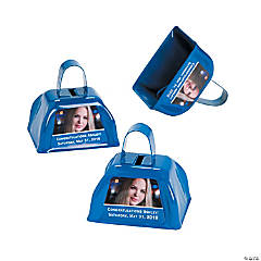 Blue Graduation Custom Photo Cowbells