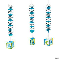 Baby Boy ABC Block Spirals