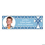 Boy 1st Communion Custom Photo Banner