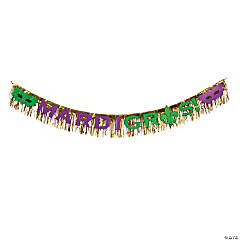 Foil Party Gras Fringe Decor