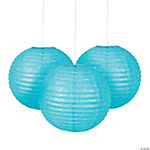 Light Blue Glitter Lanterns