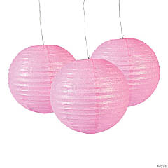 Light Pink Glitter Lanterns