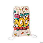 Color Your Own 100th Day Backpacks