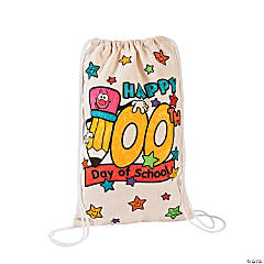 Color Your Own 100th Day of School Backpacks