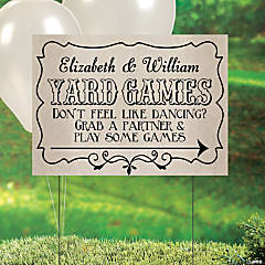Personalized Wedding Games Yard Sign