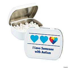 Personalized Autism Awareness Mint Tins