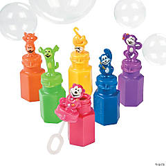 Plastic Neon Monkey Bubble Bottles