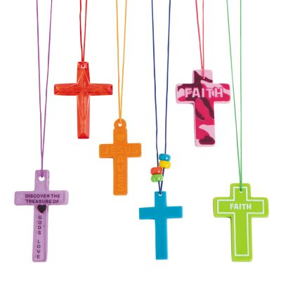 144 Christian Cross Necklaces