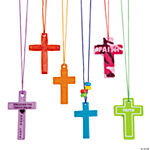 Colorful Cross Necklace Assortment