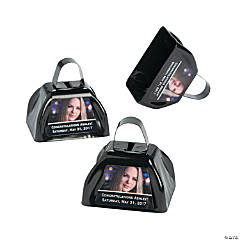 Black Graduation Custom Photo Cowbells