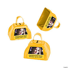 Yellow Graduation Custom Photo Cowbells