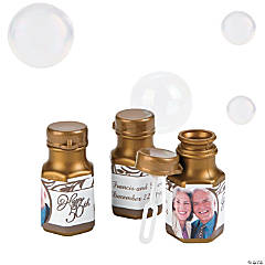 50th Anniversary Custom Photo Bubble Bottles