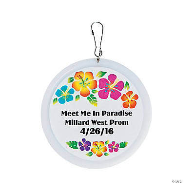 Personalized Luau Charms