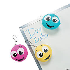 Plush Smile Face Dry Erase Erasers