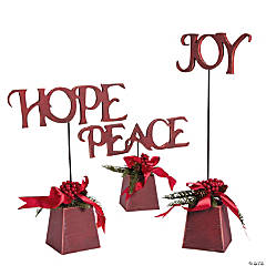"""Hope"", ""Peace"" & ""Joy"" Tabletoppers"