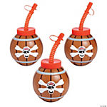 Pirate Cups with Lids & Straws