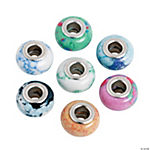 Pastel Marbled Large Hole Beads - 8mm