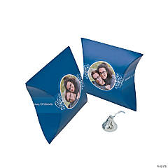 Blue Custom Photo Pillow Boxes