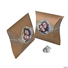 Gold Custom Photo Pillow Boxes