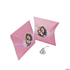 Light Pink Custom Photo Pillow Boxes