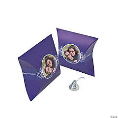 Purple Custom Photo Pillow Boxes