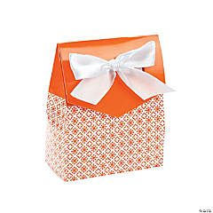 Orange Tent Favor Boxes With Bow