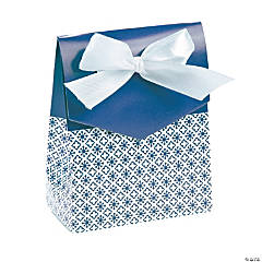 Blue Tent Favor Boxes with Bow