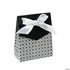 Black Tent Favor Boxes With Bow