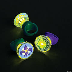 Light-Up Mardi Gras Rings
