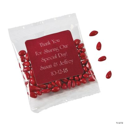 Personalized Red Wedding Candy Sunflower Seeds
