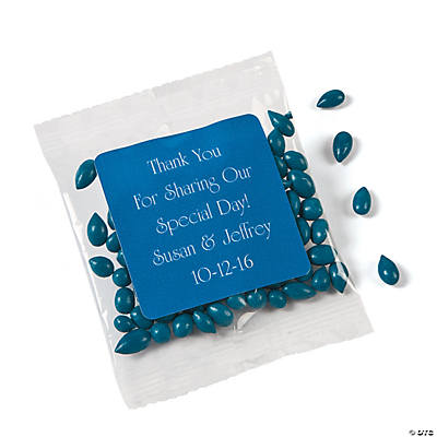 Personalized Blue Wedding Candy Sunflower Seeds