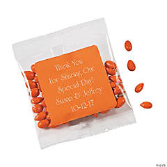 Personalized Orange Wedding Candy Sunflower Seeds