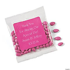 Personalized Hot Pink Wedding Candy Sunflower Seeds