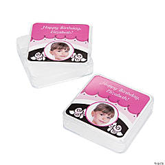 Little Ballerina Custom Photo Square Favor Containers