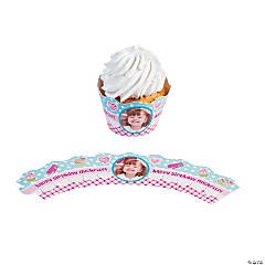 Birthday Bakery Custom Photo Cupcake Wrappers