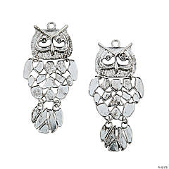 Large Owl Pendant Charms