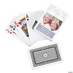 Silver Anniversary Custom Photo Playing Cards