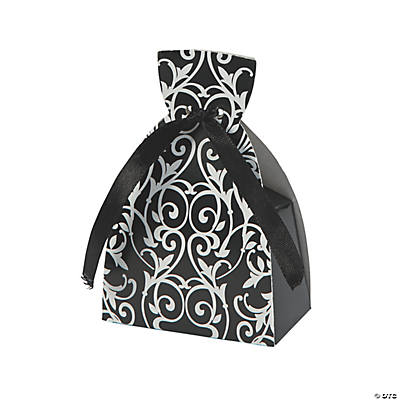 Black & White Dress Favor Boxes