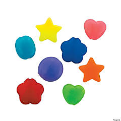 Round, Heart, Star and Flower Flat Bead Assortment