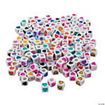 Cube Heart Beads - 6mm