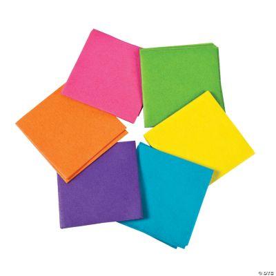 Mini Neon Tissue Paper Squares