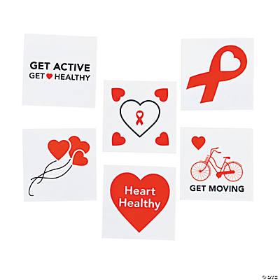Heart disease awareness tattoos oriental trading for Atomic tattoo columbus ga
